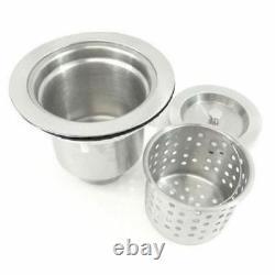 30 Single Bowl Undermount 16 Gauge 304 Stainless Kitchen Sink Zero Radius