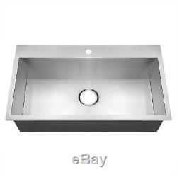30 X 18 X 9 Main Topmount Cuve Simple Bassin En Acier Inoxydable Évier De Cuisine
