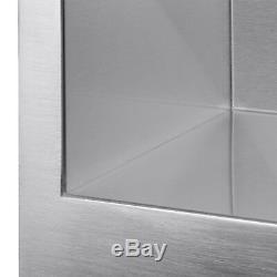 30 X 18 X 9 Single Undermount Acier Inoxydable Évier De Vidange Grille