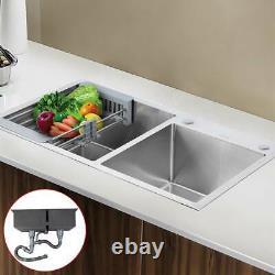 304 Évier À Double Bol En Acier Inoxydable Squre Kitchen Wash Basin Top/undermount