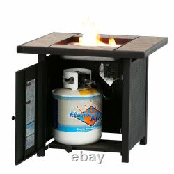 32 Backyard Gift Lpg Propane Gas Fire Pit Table Fireplace Patio Heater Extérieur