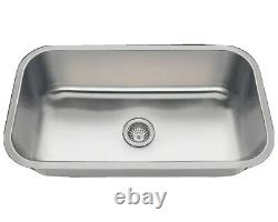 32 Pouces Undermount Stainless Steel Kitchen Sink Single Bowl With Drain Assembly