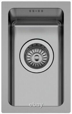 320190mm Petit Acier Inoxydable 0.5 Demi-bol Inset/undermount Kitchen Sink Nouveau