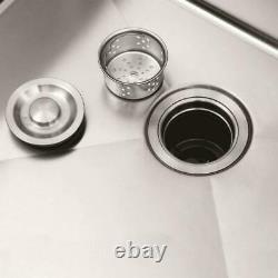 33 X 22 X 9 Acier Inoxydable Double Bowl Évier De Cuisine Topmount Réduction Du Bruit