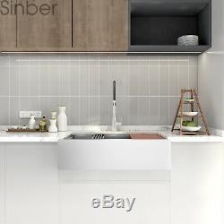 36 ' ' 16 Gauge Cuve Simple En Acier Inoxydable Ferme Tablier D'évier De Cuisine