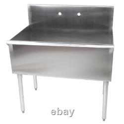 36 X 21 X 14 Freestanding Utility Inox Steel 16-gauge Commercial Sink Bowl