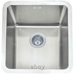 461 X 411mm Brossé Undermount Stainless Steel Single Bowl Kitchen Sink (a01 Bs)
