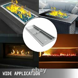 49x16 Drop-in Fire Pit Pan Avec Brûleur Rectangulaire Fire Bowl Diy Fire Pit