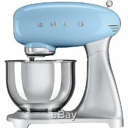 50 Smeg Smf02pbuk Bleu Pastel Rétro Stand De Nourriture Mixer Fouet + 2 Ans De Garantie