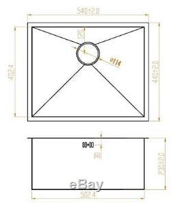 540 X 440 MM De Profondeur Cuve Simple Fait À La Main En Acier Inoxydable Vier (ds007)