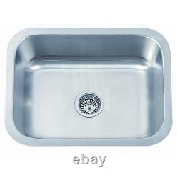 560 X 460mm Brossé Undermount Stainless Steel Large Bowl Kitchen Sink (a28a Bs)