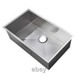 740 X 440mm Deep Wide Single Bowl Handmade Steel Undermount Kitchen Sink (ds008)
