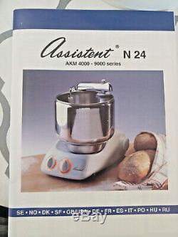 Ankarsrum Assistent Original Batteur Sur Socle Electrolux 7 Litres 4020 N24 2004