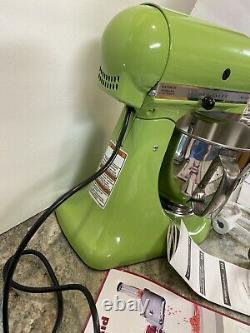 Artisan De Kitchenaid 5 Pintes 325w Batteur Sur Socle 10v Green Apple & Food Grinder