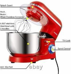 Aucma Food Mixer, 1400w Kitchen Stand Mixer Avec 6,2 L En Acier Inoxydable Mixer Bo