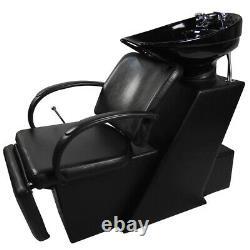 Backwash Unit Shampooing Ceramic Sink Bowl Barber Chair Salon De Footrest Réglable