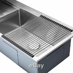 Bai 1232 48 Cuisine À La Main En Acier Inoxydable Évier À Cuve Simple Avec Drainboard