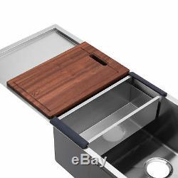 Bai 1252 45 Main De Cuisine En Acier Inoxydable Évier À Cuve Simple Avec Drainboard