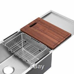 Bai 1253 45 Main De Cuisine En Acier Inoxydable Évier À Cuve Simple Avec Drainboard