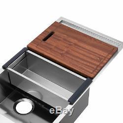 Bai 1257 45 Main De Cuisine En Acier Inoxydable Évier À Cuve Simple Avec Drainboard