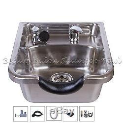 Beauté En Acier Inoxydable Shampooing Bowl Shampooing Sink Barber Salon Brossé Tlc-1167