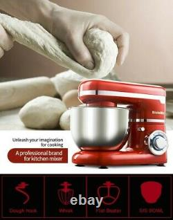 Biolomix 1200w 4l Bol En Acier Inoxydable 6-speed Kitchen Food Stand Mixer 50114