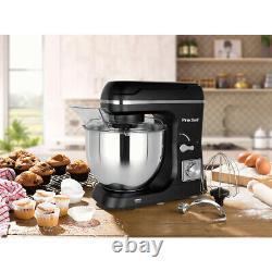 Black Kitchen Stand Mixer Speed Beater Aid Mixing Whisking With Food Large Bowl