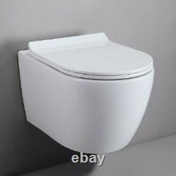 Blanc Double Flush Elongated Wall Hung Toilet Bath Carrier System&tank Bowl Set
