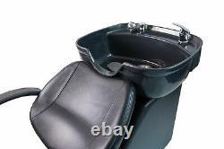 Ceramic Bowl Backwash Shampoo Chair Unit Sink Station Set Spa Salon Beauty Shop