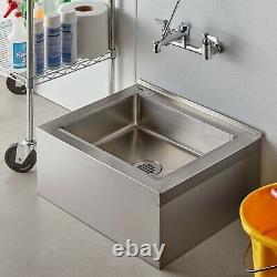 Commercial En Acier Inoxydable Utilitaire Mop Plancher Compartiment Puits Bowl 25 Liste Nsf