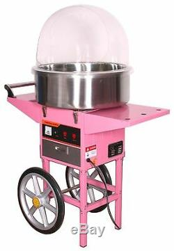 Cotton Candy Maker Machine / Couverture Avec Panier, Bol Barbapapa En Acier Inoxydable