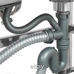 Cuisine En Acier Inoxydable Éviers Rectangulaires Double Vasques Et Robinet Usage Commercial