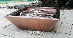 Cuivre Cladded Outdoor Fire Pit Bowl Firepit Backyard Colonne Gaz Naturel Propane