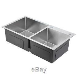 Double En Acier Inoxydable Évier Lavabo Top / Encastrée Place Sink