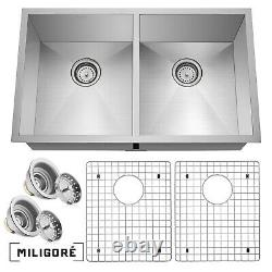 Double Moderne En Acier Inoxydable Bowl Undermount Kitchen Sink