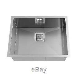 Enki Ks012 En Acier Inoxydable 1 Cuve Simple Carré Passoire Undermount Kitchen Sink