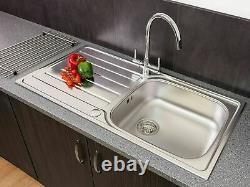 Évier De Cuisine Moderne En Acier Inoxydable Single Bowl 1000 X 500mm Drainateur Réversible
