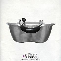 Évier Salon Shampooing En Acier Inoxydable Brossé Bowl Spa Équipement De Beauté Tlc-1367