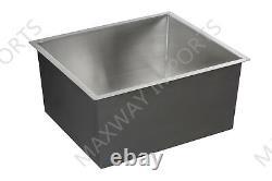 Fait Main 23 Undermount Single Bowl 304 Stainless Steel Kitchen Sink Zero Radius
