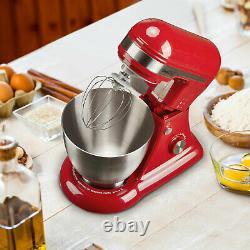 Geek Chef Gsm45b Acier Inoxydable 4.8 Quart Bowl 12 Speed Baking Stand Mixer, Rouge