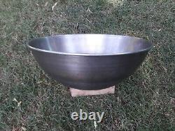 Heavy Duty 30 Quart Steel Mixing Bowl Round Bottom Pèse 7,5 Lbs