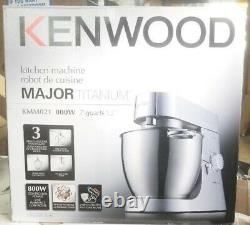 Kenwood Chef Major 800w Stand Mixer + 3 Outils Inoxydables (kmm021) Unités De Démonstration