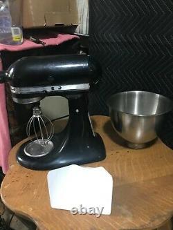 Kitchen Aid 3 Pintes Artisan Batteur Sur Socle Avec 1 Accessoires Ksm150 Bowl Onyx Noir