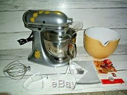 Kitchen Aid 325w Série Artisan Tête Inclinable Countertop Batteur Sur Socle En Argent