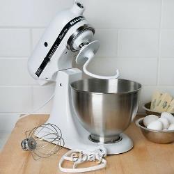 Kitchenaid 4.5qt Classic Standmixer Comptoir Blanc