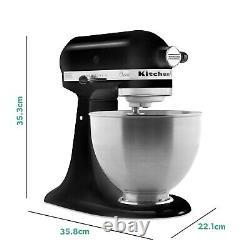 Kitchenaid 5k45ssbbm 4.3l Mélangeur De Stand Classique Matte Black
