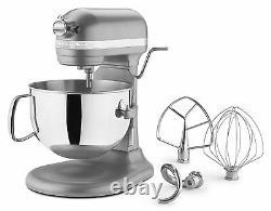 Kitchenaid 600 Super Grande Capacité 6-quart Pro Stand Mixer Rkp26m1xsl Silver