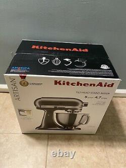 Kitchenaid Artisan 5 Qt. 4.7lt. Mélangeur Stand (graphite Liquide) -flambant Neuf, Scellé
