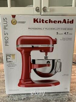 Kitchenaid Professional 5 Plus Série Stand Mixers-empire Red Brand New In Box