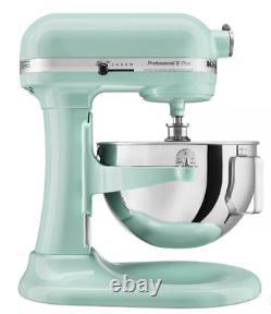 Kitchenaid Professional 5qt Stand Mixer In Ice Blue Brand New Livraison Gratuite